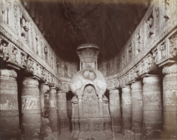 Interior of Cave XIX, Ajanta